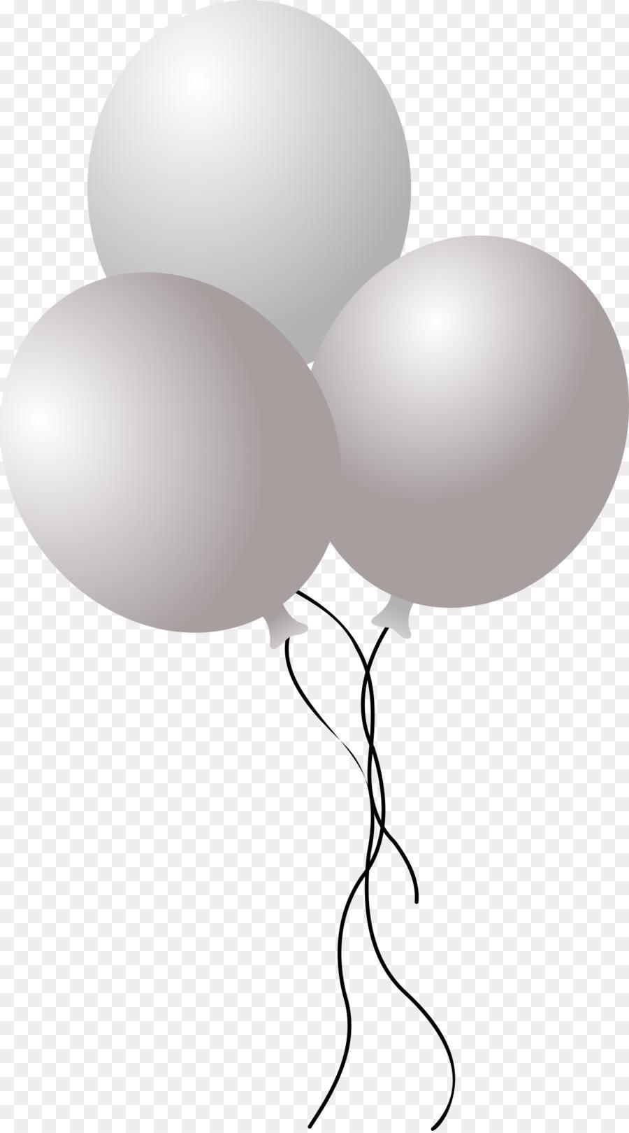 White Balloon clipart.