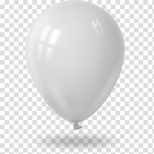 White inflatable balloon , Balloon, White balloon transparent.