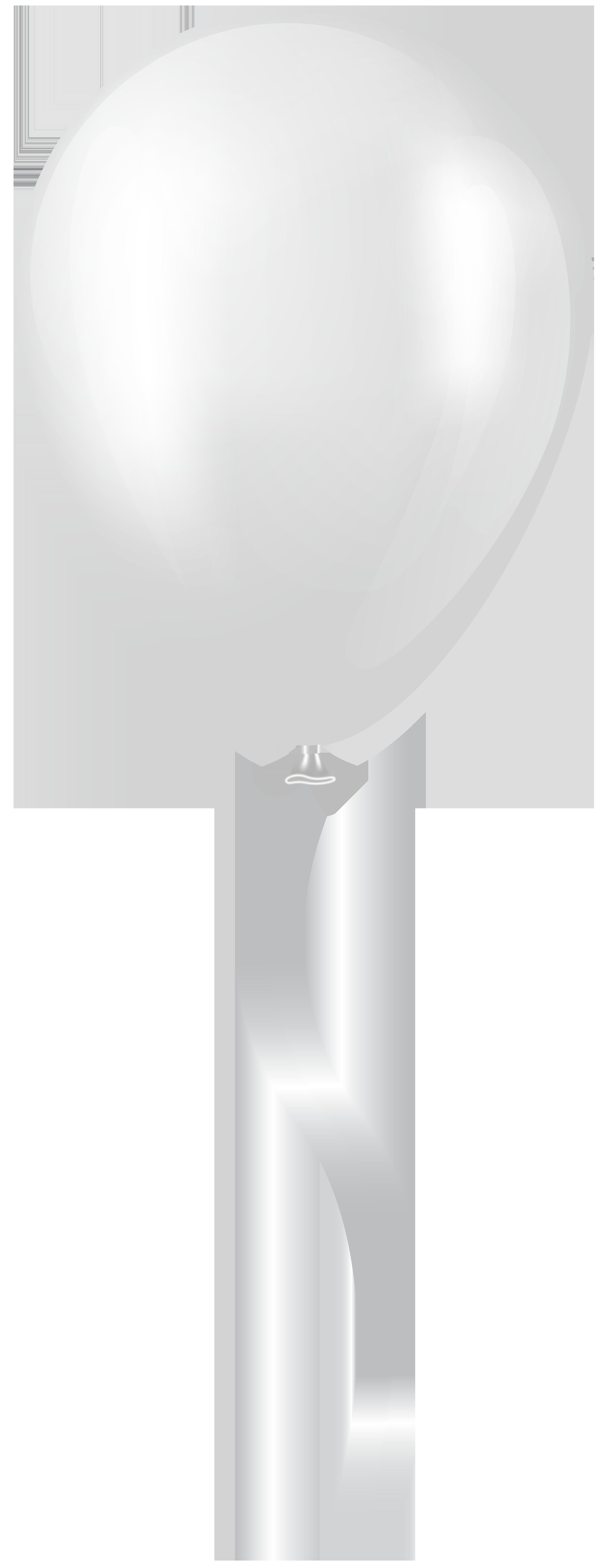 White Balloon Transparent Clip Art.