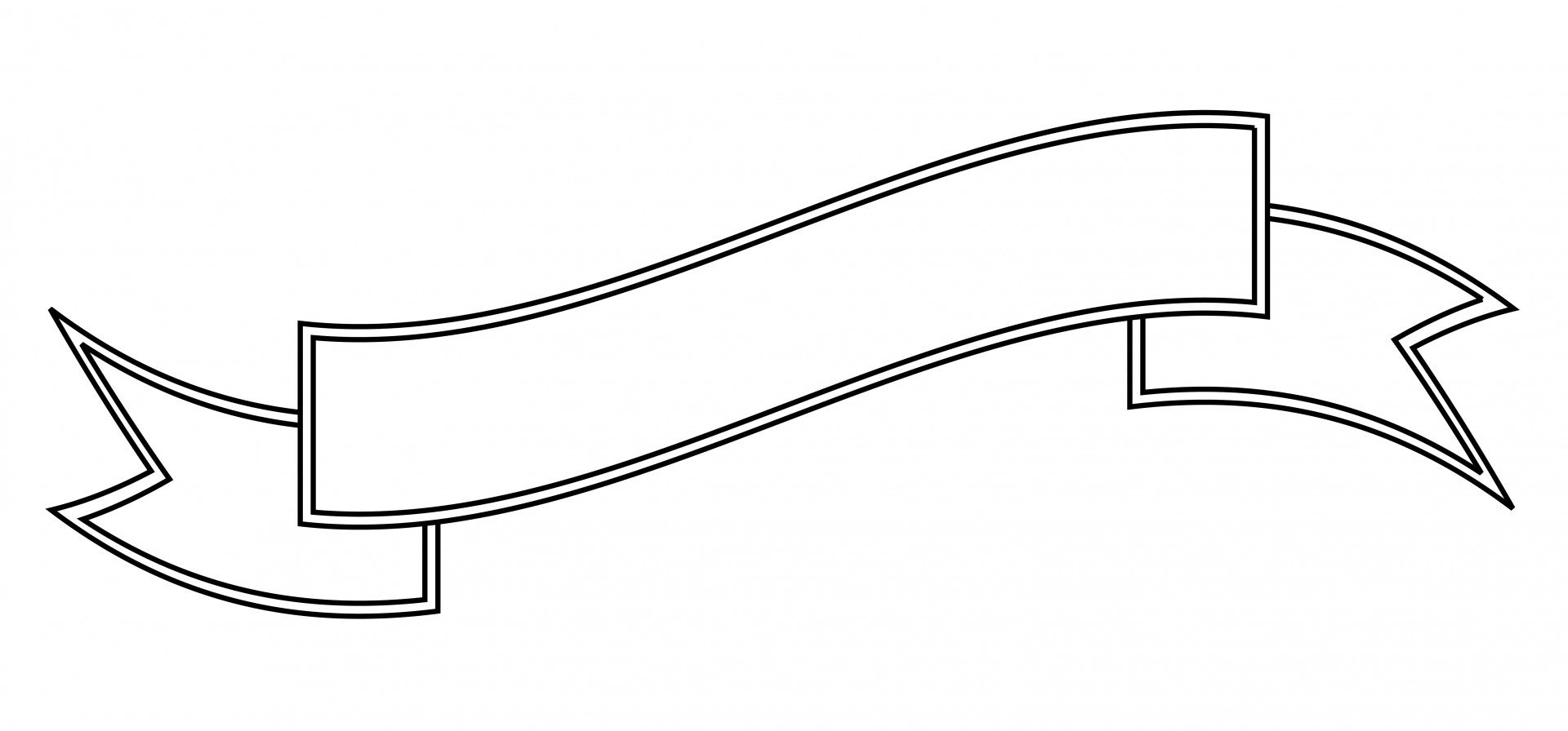 Blank Scroll Banner Clip Art.