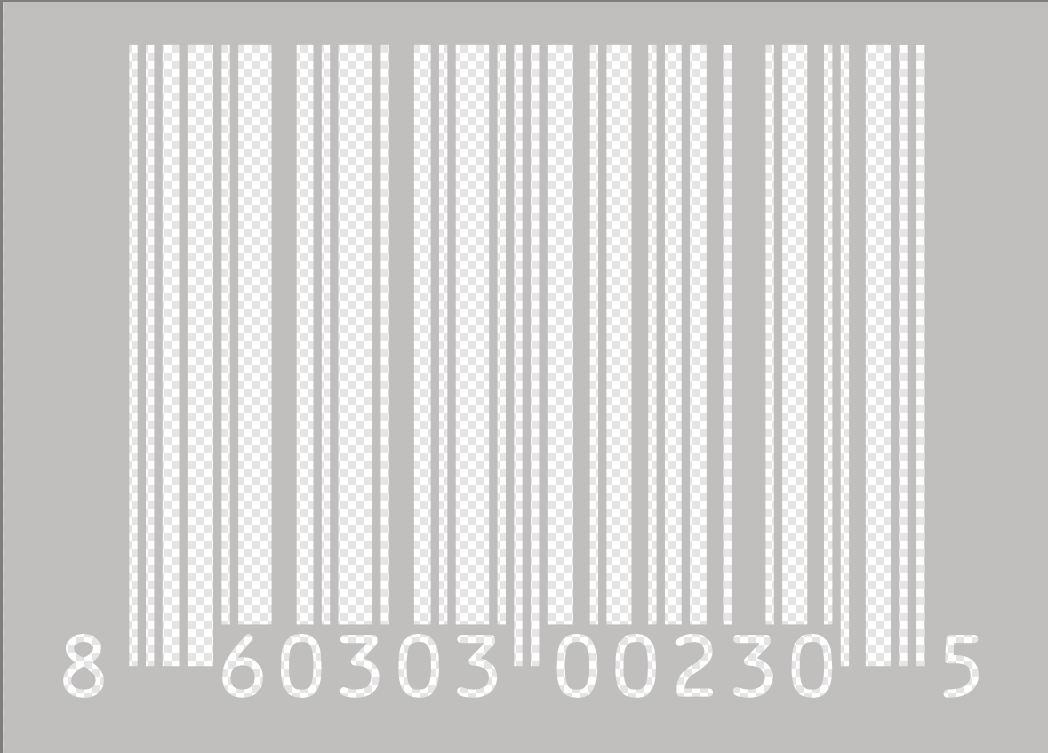 How to Make Barcode Transparent.