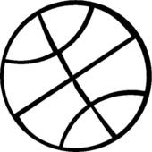 Basketball Clipart Black And White.