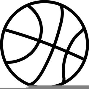 Black White Basketball Clipart.