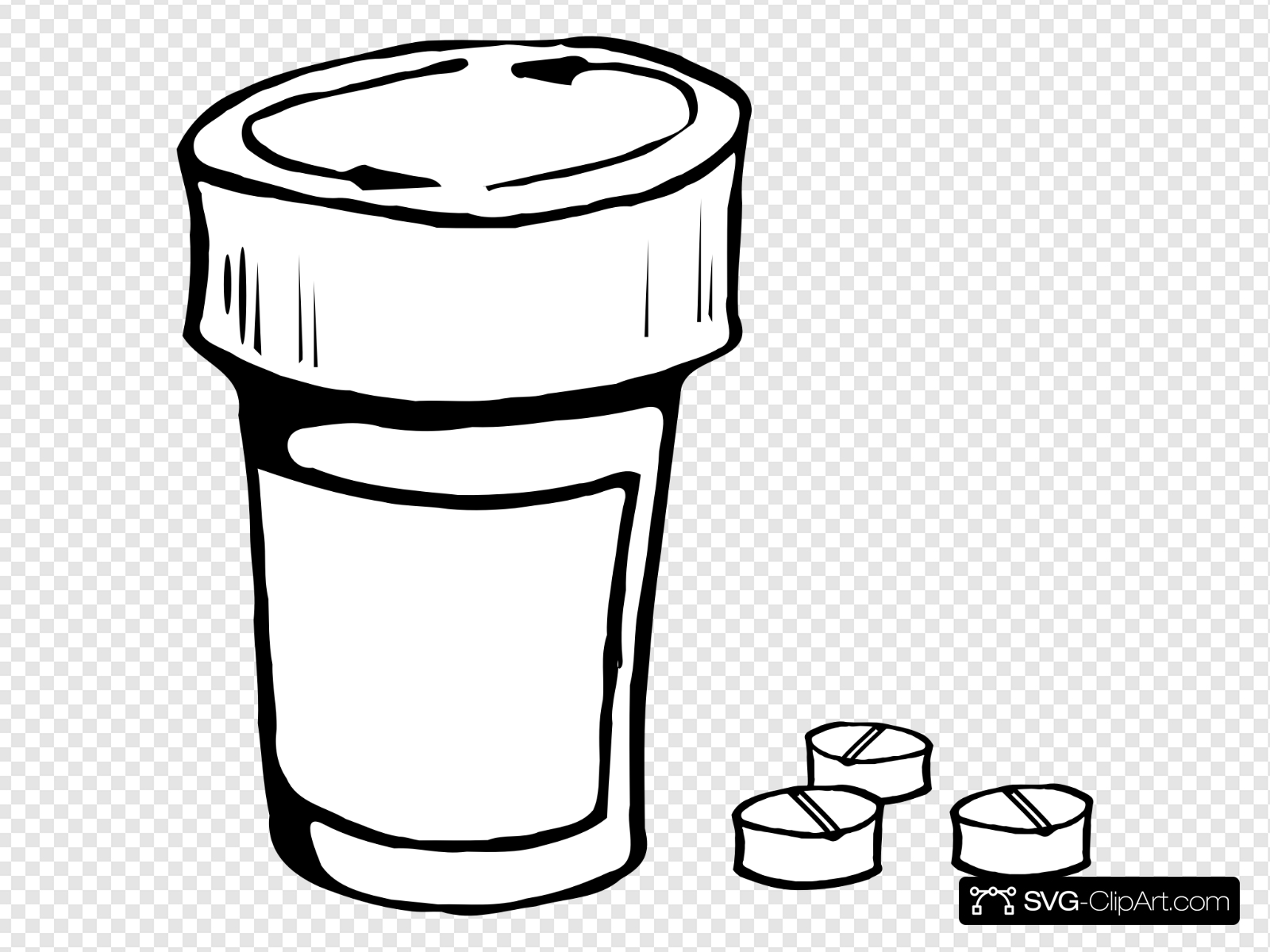 Pills And Bottle Clip art, Icon and SVG.
