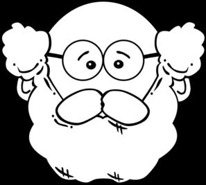 Bald man with beard clipart.