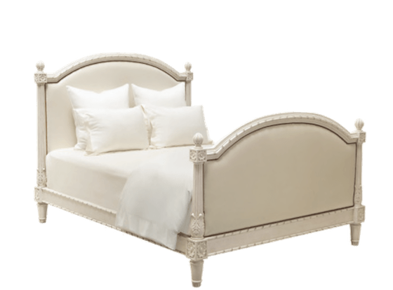 Romantic White Bed transparent PNG.