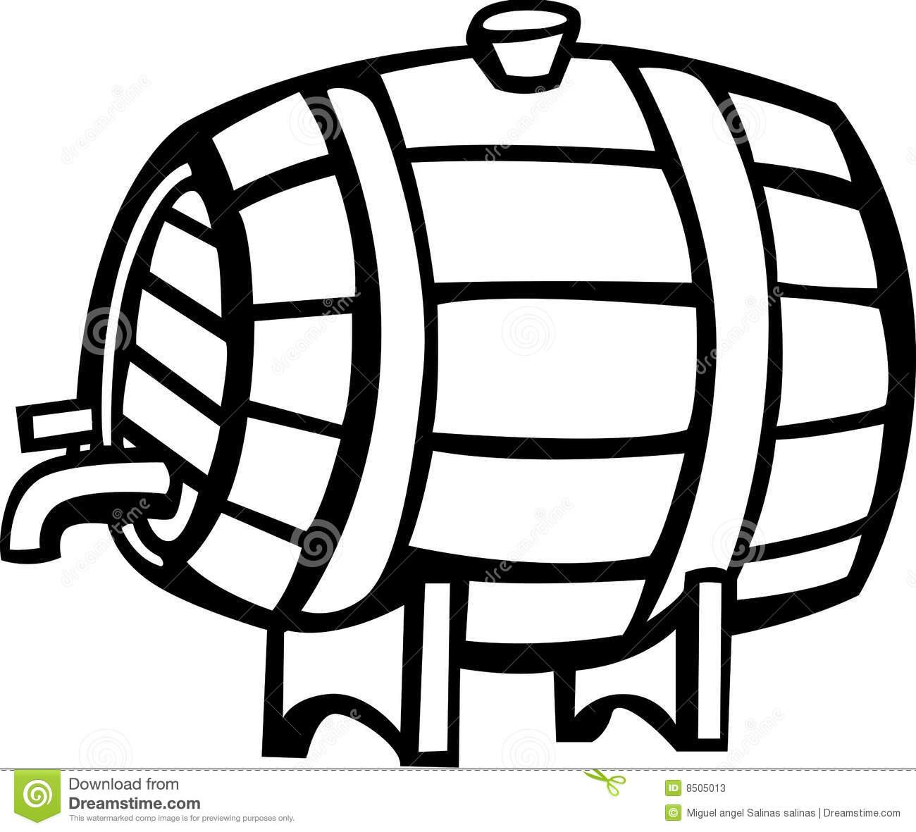 Beer Keg Clipart.
