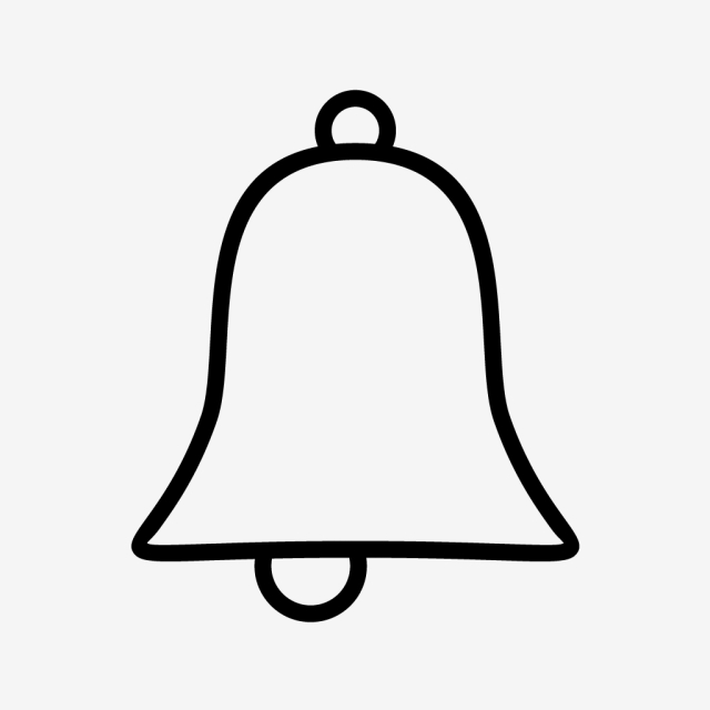 Vector Bell Icon, Alert, Bell, Notification Icon PNG and Vector with.