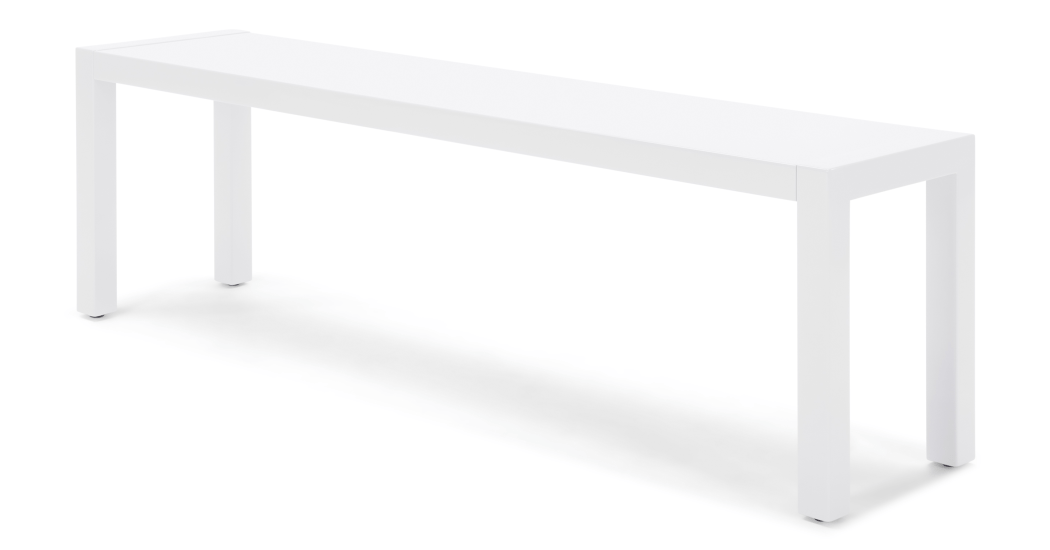 Bramante Large Bench, White.