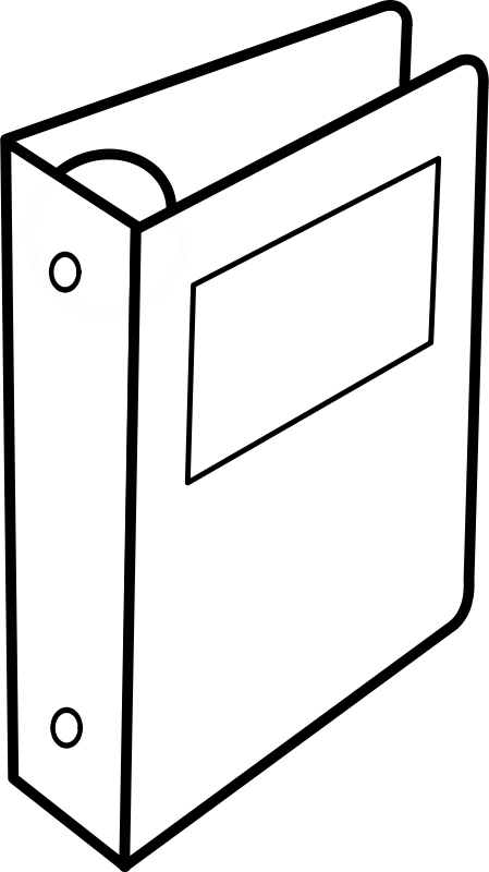 Free Clipart: Cartable à anneaux / Binder.