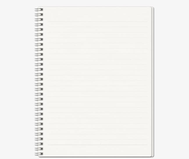 White Blank Spiral Notebook PNG, Clipart, Backgrounds, Blank, Blank.