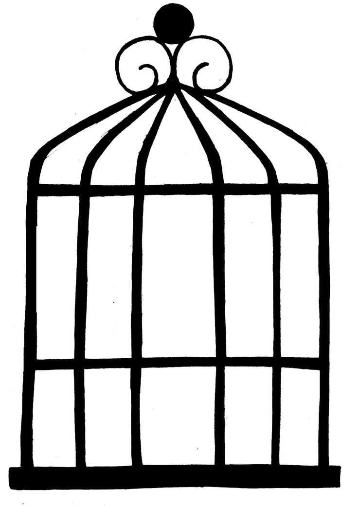 Simple Bird Cage Drawing Images & Pictures.