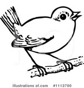 Black And White Bird Clip Art.