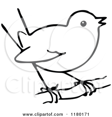 Clipart Bird Black And White.