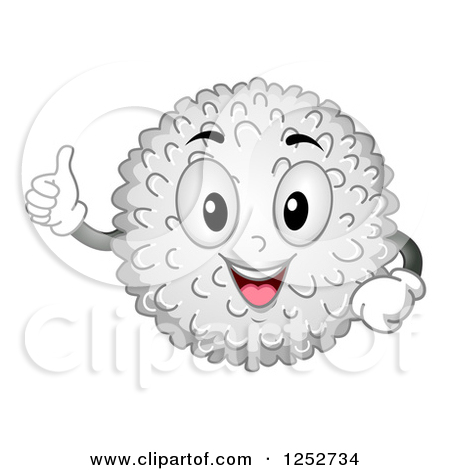 Clipart Grinning White Blood Cell.