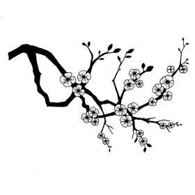 Blossom Clipart Black And White.
