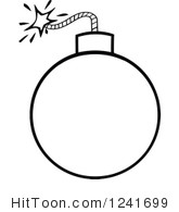 Bomb Clipart Black And White.