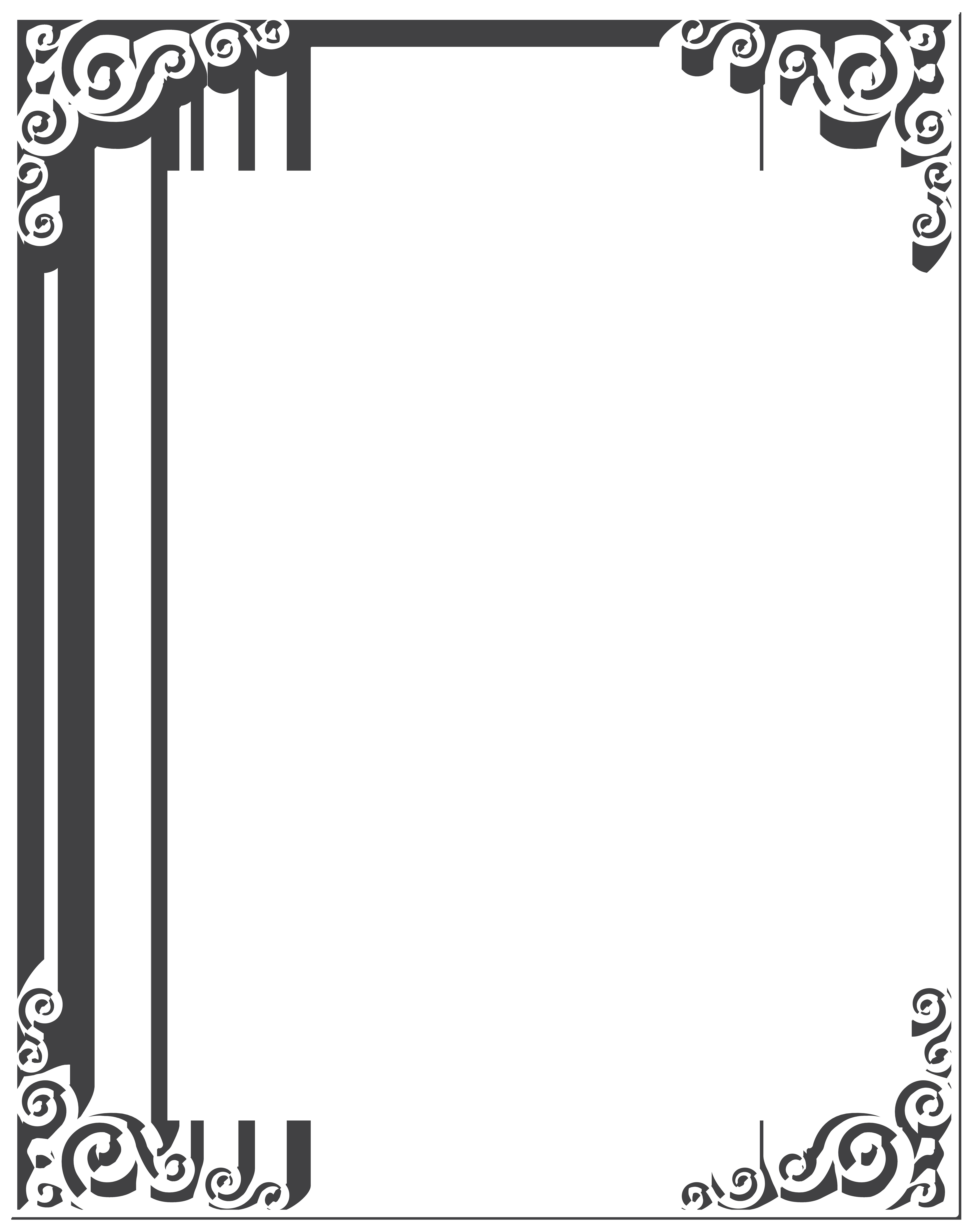 White Border Frame PNG Clip Art Image.