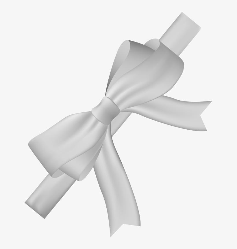 Pin White Ribbon Bow Clipart.
