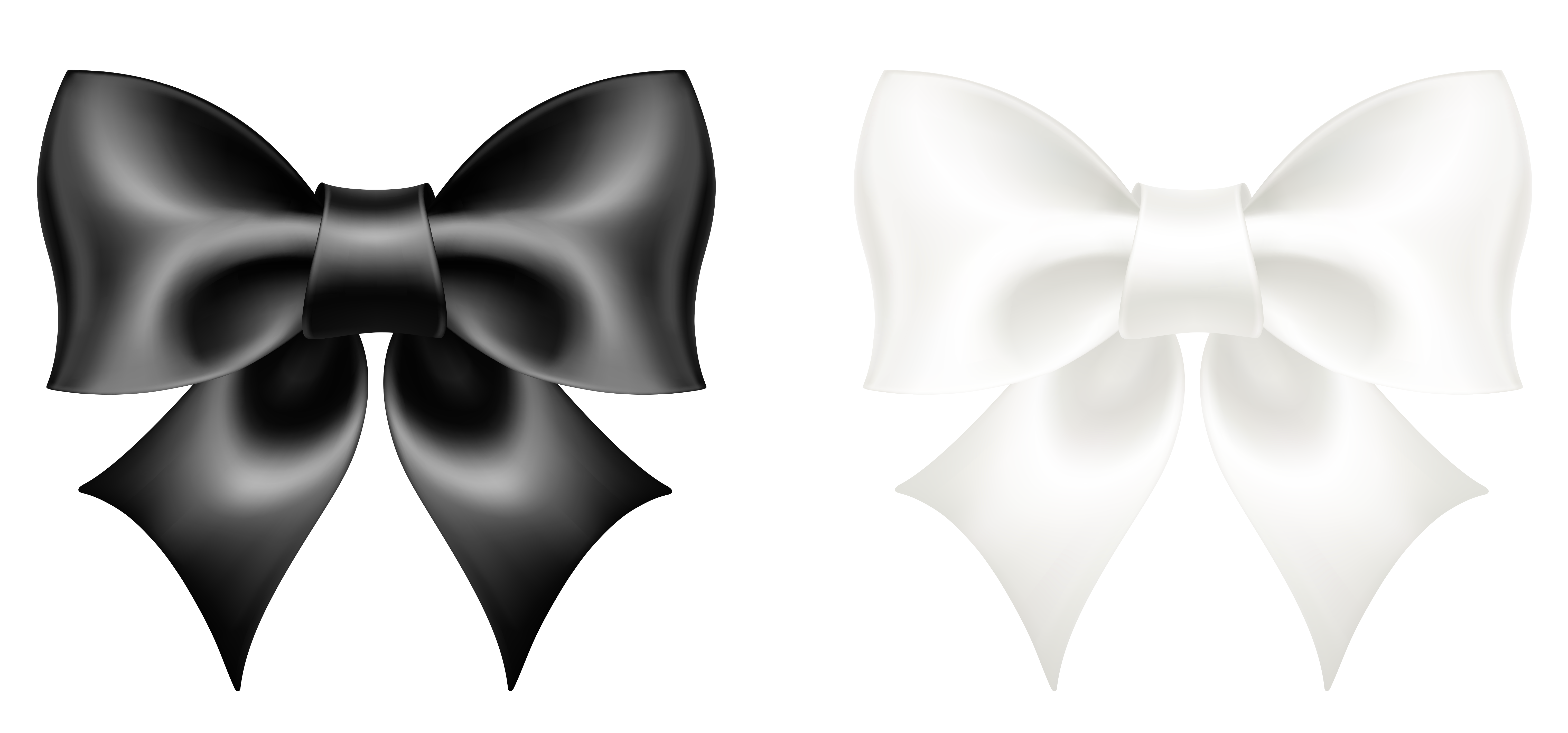 White Clipart Bow.