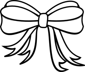 Present Bow Clipart Black And White.