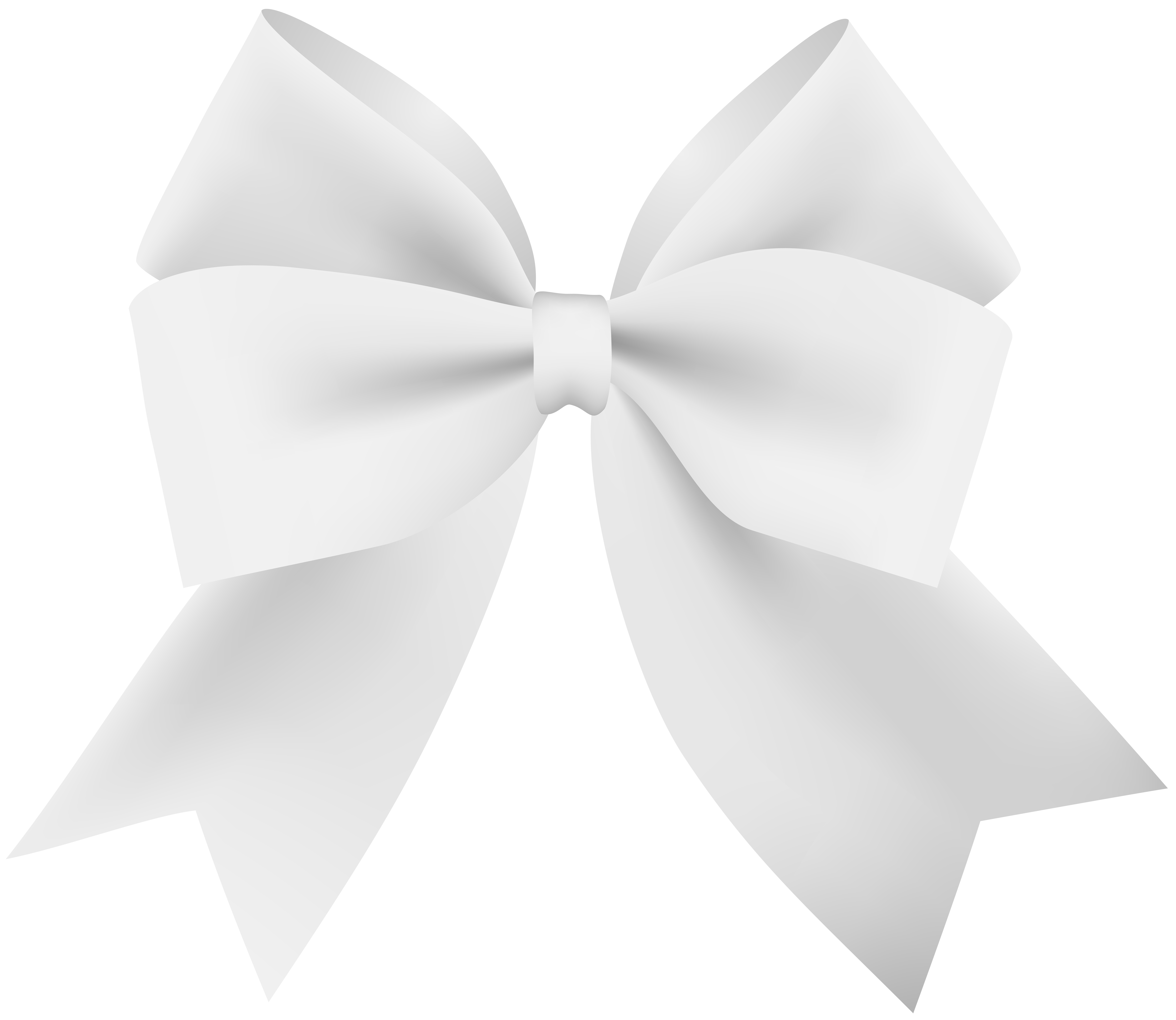 White Bow Transparent PNG Image.