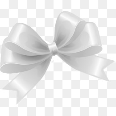 White Bow PNG Images.