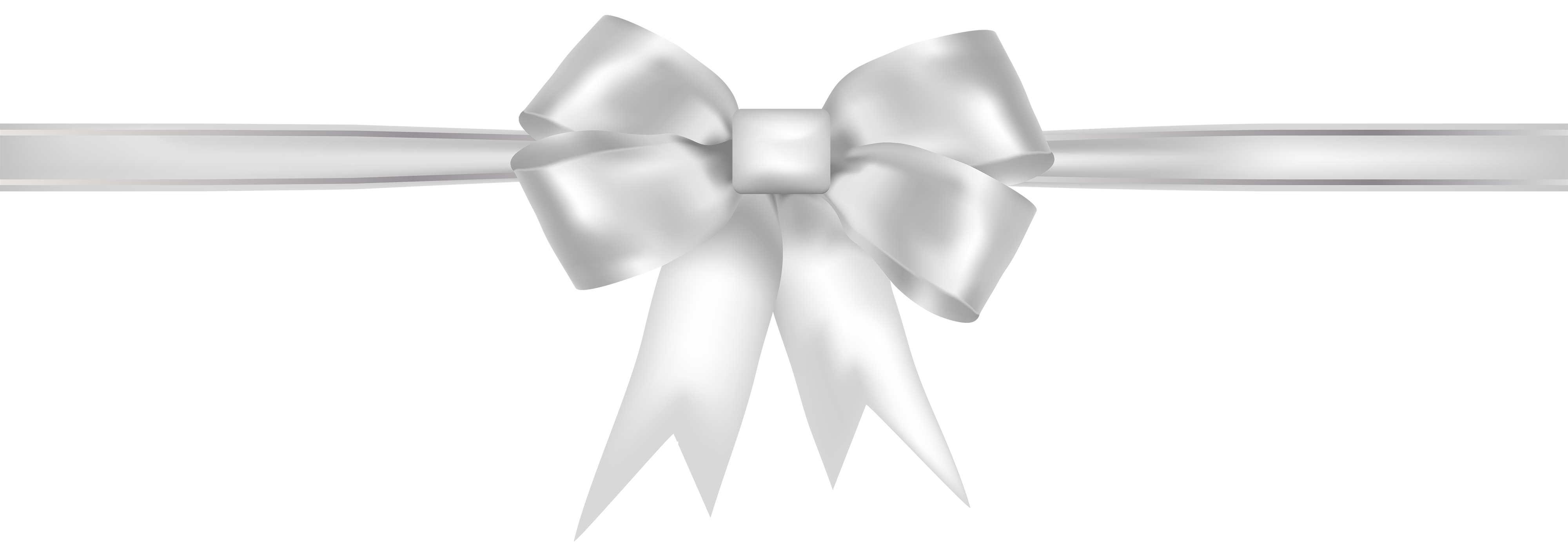 White ribbon Clip art.