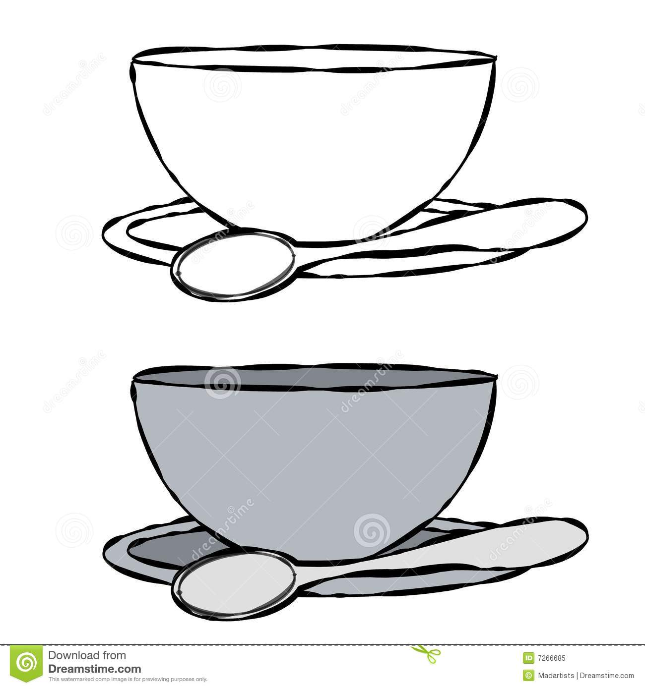 Food spoon bowl food clipart black and white.