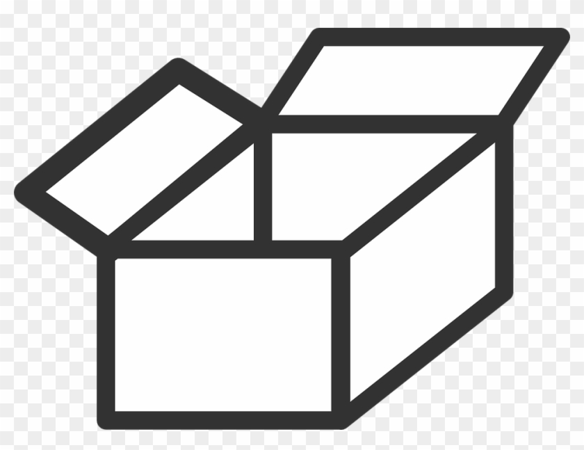 Box Clipart Black And White, HD Png Download.