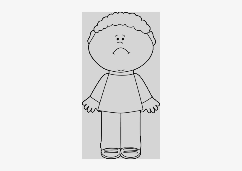 Sad Boy Clipart Black And White Clipart Sad Boy Transparent.