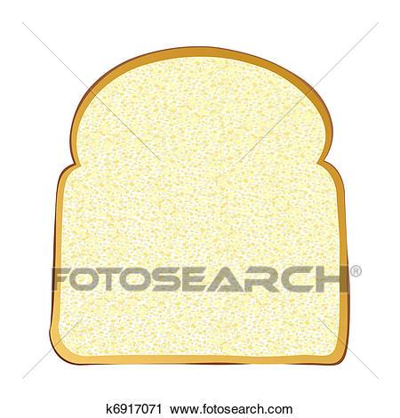 Slice of white bread Clipart.