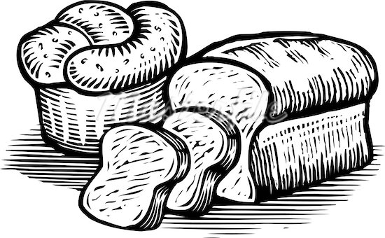 White Bread Pastries Clipart Clipground