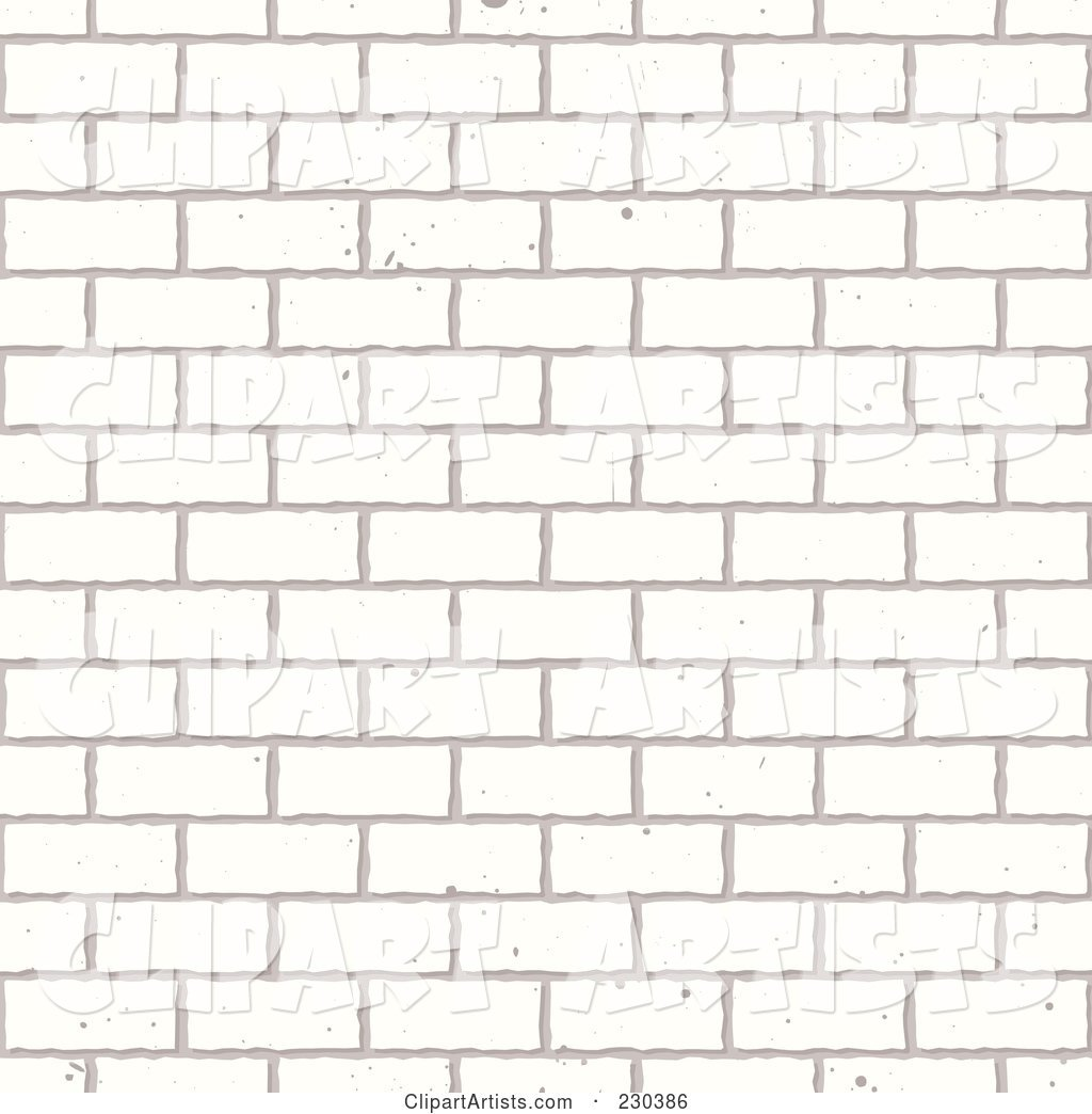 Seamless Background Of A White Brick Wall Clipart by.