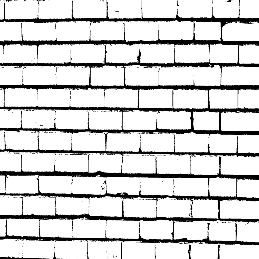 Brick Wall in Black and White Textures (PNG).