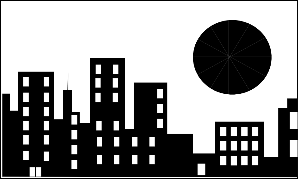 Black And White Building Clipart.