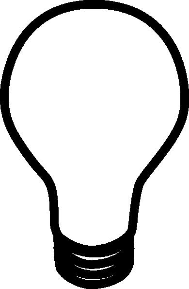 Light Bulb Black And White Clipart.