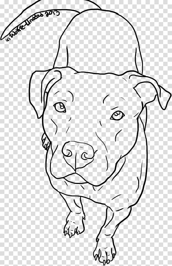 American Pit Bull Terrier Drawing Line art, pitbull.