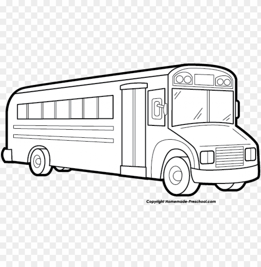 school bus clipart black and white.