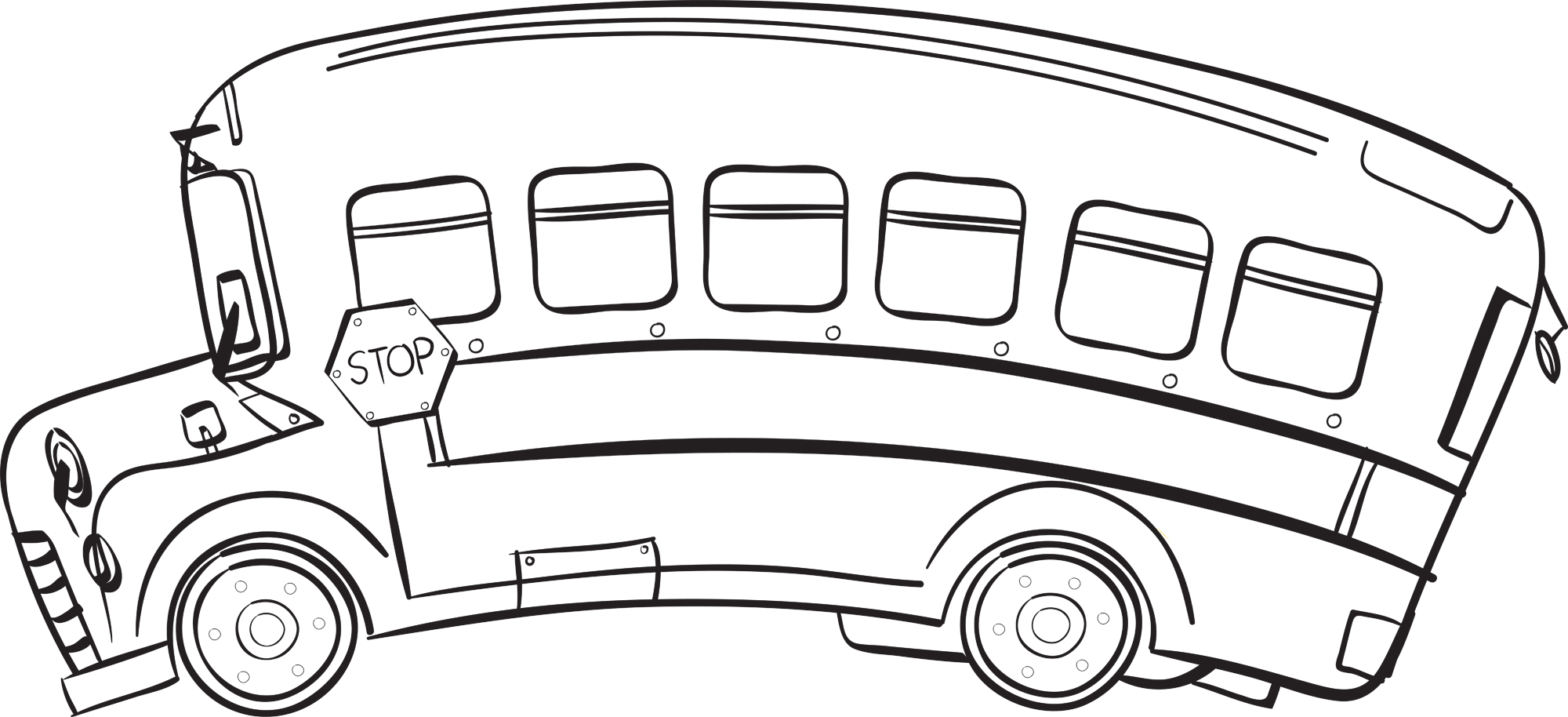 Free Bus Clipart Black And White, Download Free Clip Art.