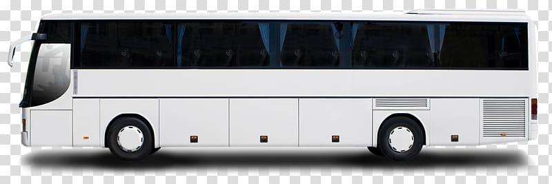 White bus illustration, Tour bus service Coach , White Bus.