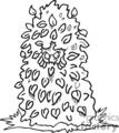 Bush Clip Art Image.