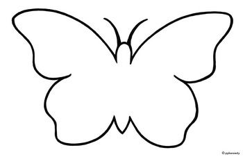 Black and White Butterfly Outline.