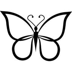 Butterflies Clipart Black And White.