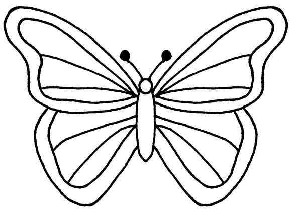 free butterfly clipart black and white #1