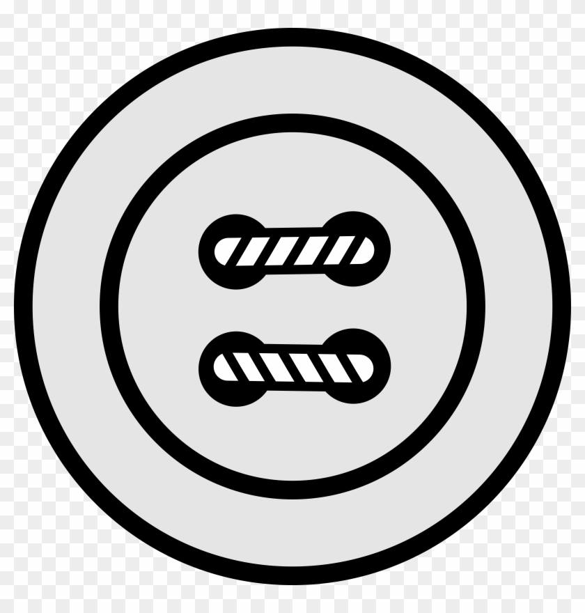 Button Clipart Black And White, HD Png Download.
