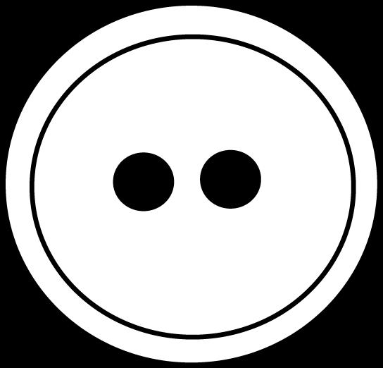 Black and White Button Clip Art.