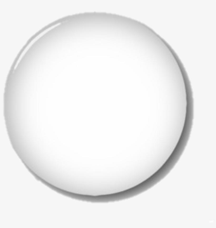 White Button Glass Transparent Circle.