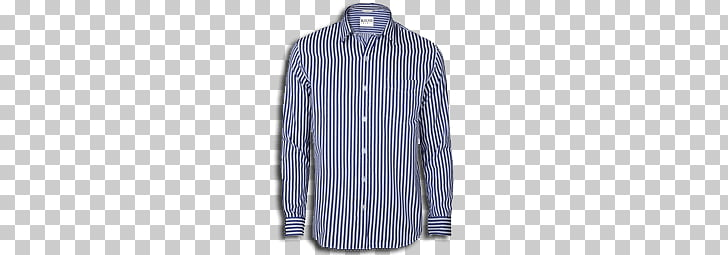 Shirt Striped Blue, blue and white striped button.