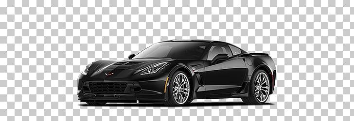 Black Corvette, black Chevrolet Corvette C7 coupe PNG.